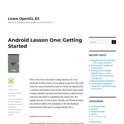Android Lesson One: Getting Started