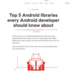 Top 5 Android libraries every Android developer should know about — Infinum