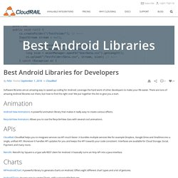 List of Best Android Libraries for Developers