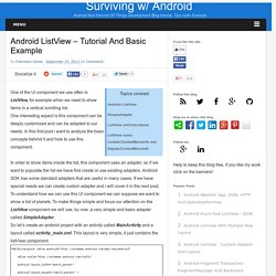 Android ListView – Tutorial and basic example
