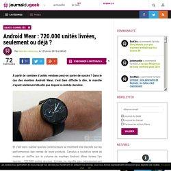Android Wear : 720.000 unités livrées, seulement ou déjà ?
