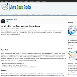 Android: Loaders versus AsyncTask