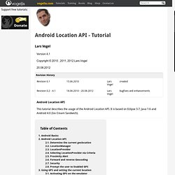 Location API and Google Maps in Android