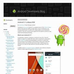 Android 5.1 Lollipop SDK