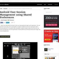 Android User Session Management using Shared Preferences