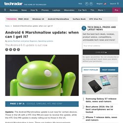 Android M release date: when can I get it?