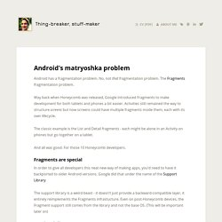 Android's matryoshka problem