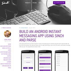 Android Messaging App Tutorial with Parse
