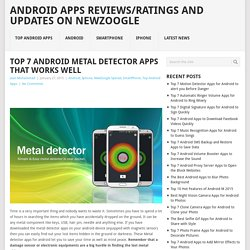 Top 7 Android Metal Detector Apps that Works Well