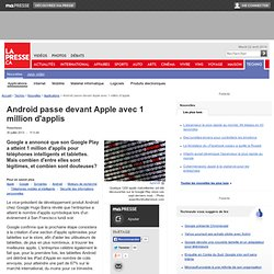 Android passe devant Apple avec 1 million d'applis