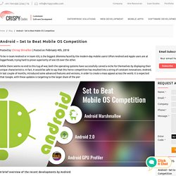 Android - Set to Beat Mobile OS Competition