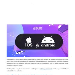 Android vs. iOS - Which one is Best For Mobile App Development?