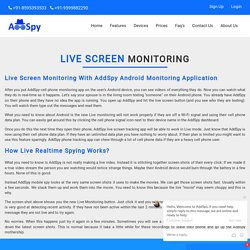 Android App For Live Screen Monitoring