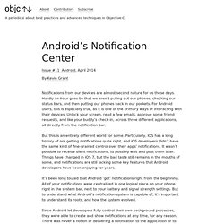 Android's Notification Center - Android - objc.io issue #11