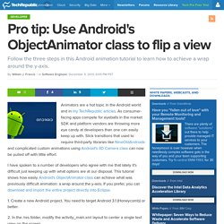 Pro tip: Use Android's ObjectAnimator class to flip a view
