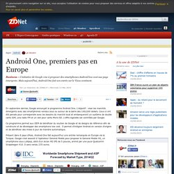 Android One, premiers pas en Europe