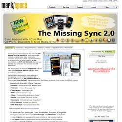 Android Sync Software for HTC EVO, Nexus One, Droid, Hero and Other Android Phones