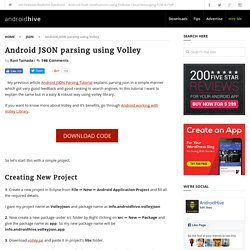 Android JSON parsing using Volley