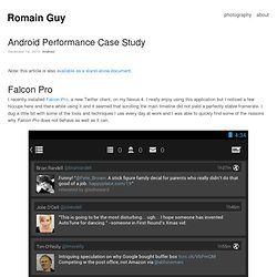 Android Performance Case Study