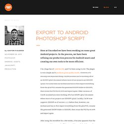 Export to Android Photoshop Script
