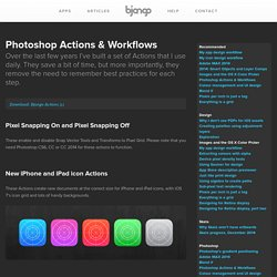 iOS Photoshop Actions & Workflows