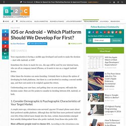 iOS or Android – Which Platform Should We Develop For First?