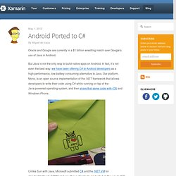 Android Ported to C# – Xamarin