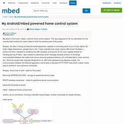 My Android/mbed powered home control system