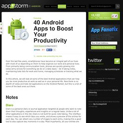 40 Android Apps to Boost Your Productivity