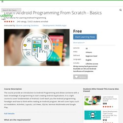 Learn Android Programming From Scratch - Beta