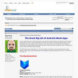 The Big List of Android eBook Reader Apps