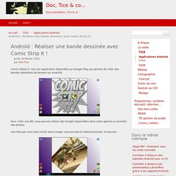 Androïd : Réaliser une bande dessinée avec Comic Strip It !