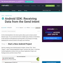 Android SDK: Receiving Data from the Send Intent