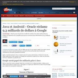 Java et Android - Oracle réclame 9,3 milliards de dollars à Google - ZDNet