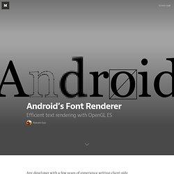 Android's Font Renderer