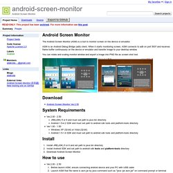 android-screen-monitor - Android Screen Monitor