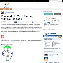 "Free Android ""Scribbler"" App with source code"