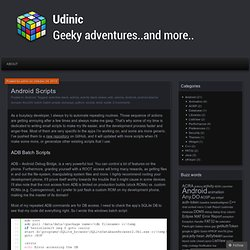 Android Scripts « udinic