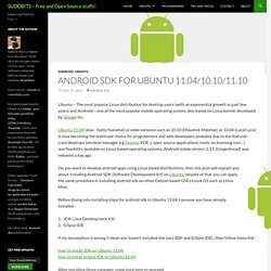 Android SDK for Ubuntu 11.04/10.10/11.10