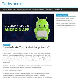 How to Make Your Android App Secure?