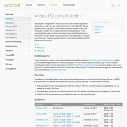 Android Security Bulletins | Android Open Source Project