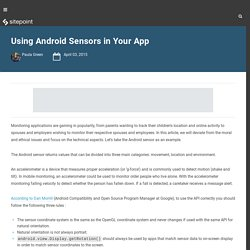 Using Android Sensors in Your Application
