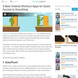5 Best Android Shortcut Apps for Quick Access to Everything
