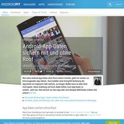 Android-App-Daten sichern mit und ohne Root - AndroidPIT