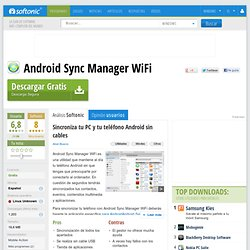 Android Sync Manager WiFi - Descargar