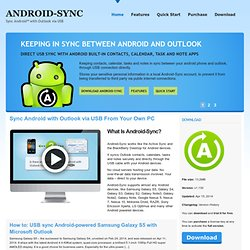 Android-Sync - Sync android to your desktop ( USB / OTA wireless )