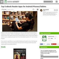 Top 5 eBook Reader Apps for Android Phones/Tablets