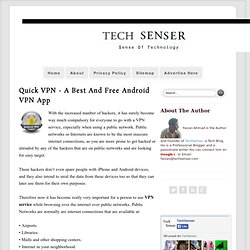 Quick VPN - A Best And Free Android VPN App ~ Tech Senser