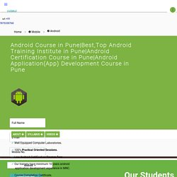 Android Courses in Pune - CodeKul