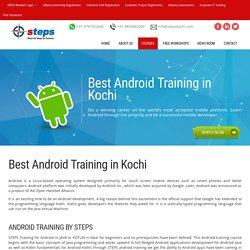 Android Training - Android App Development Training in Kochi